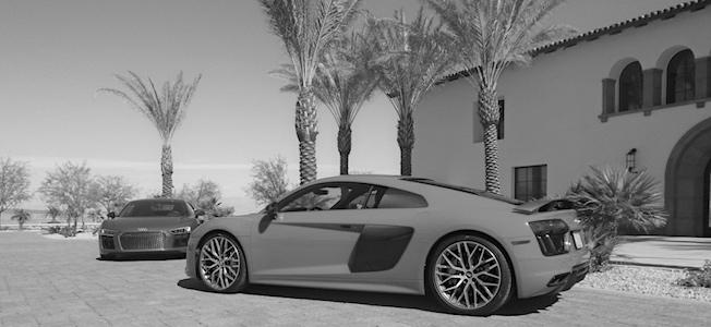 Audi R8s at The Thermal Club